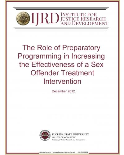 The Role of Preparatory Programming in Increasing the Effectiveness of a Sex Offender Treatment Intervention