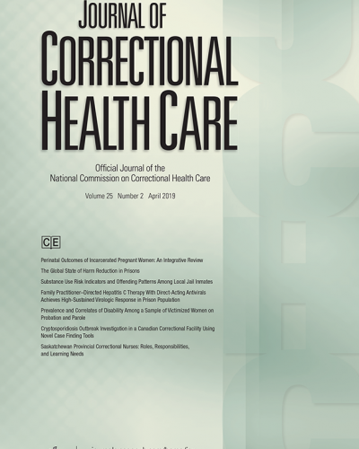 journal of correctional heath care