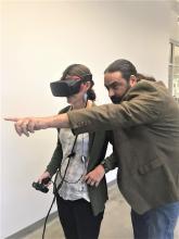 VR demo at the Hub